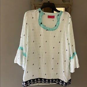 Cute Nautical Top or Cover Up